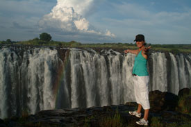 Boo at the Victoria Falls - Zimbabwe