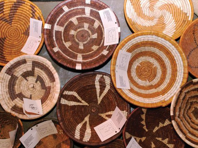 Baskets made in botswana