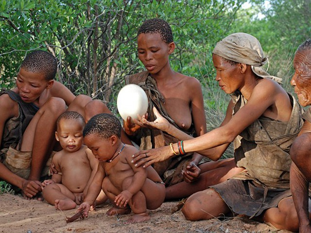 A family of the bushmen tribe