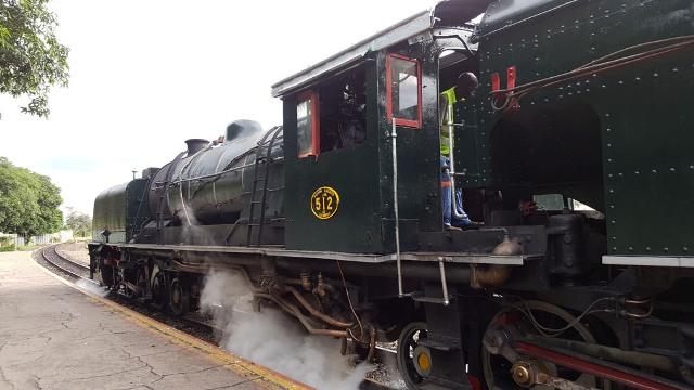Bushtracks Express Steam Train at the Victoria Falls Station