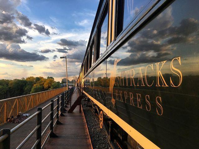 The Bushtracks Express on the Victoria Falls Bridge