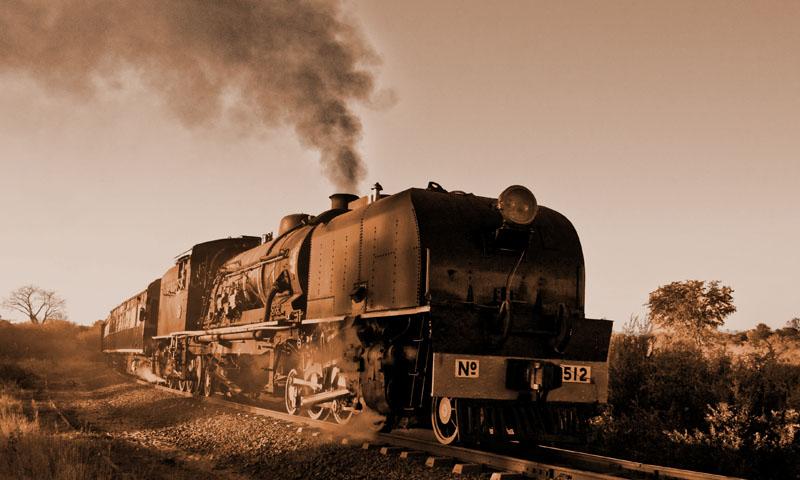 Vintage shot of the Victoria Falls Steam Train