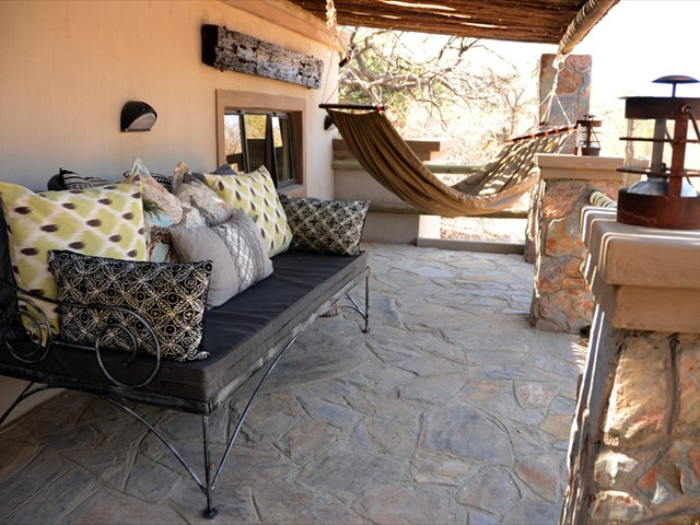 Relax on the deck on the seats or in a hammock