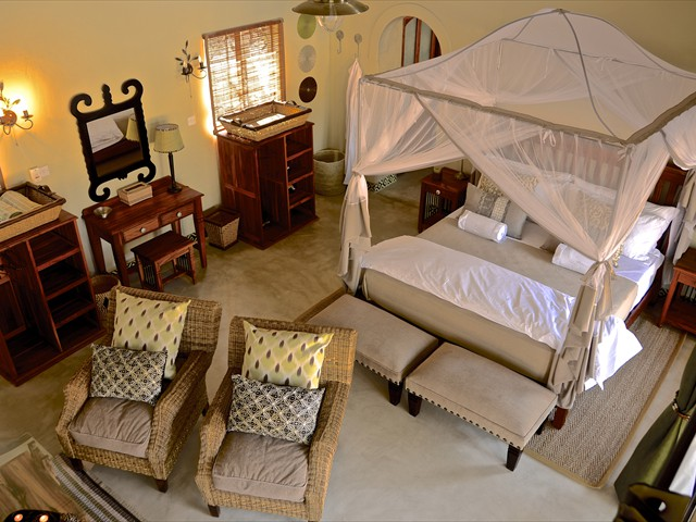 Spacious luxury room at Camelthorn Lodge - Hwange National Park, Zimbabwe