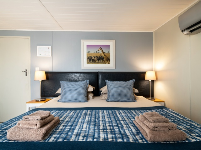 The standard rooms have king beds
