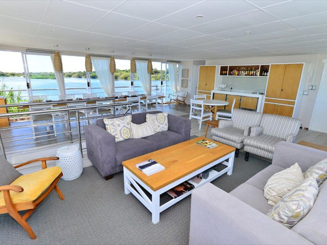 The common area of the boat