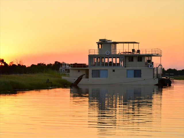 Chobe Princess on the Chobe River in Namibia, near Chobe National Park