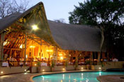 Evening at the poolside - Chobe Safari Lodge