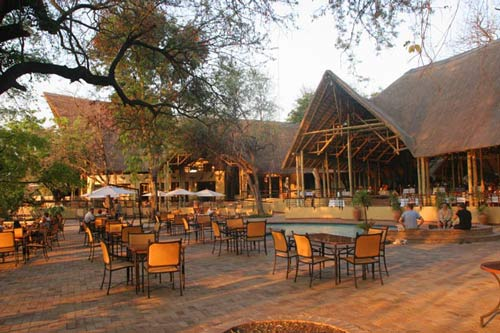 Main lodge and dining area at Chobe Safari Lodge - Botswana