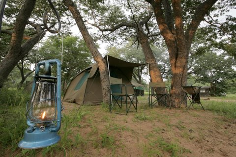 Camp site in Chobe National Park, Botswana