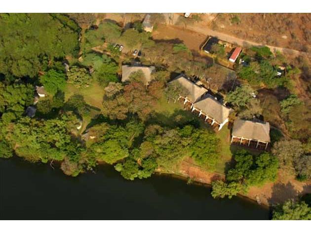 Aerial view of Chobe Safari Lodge