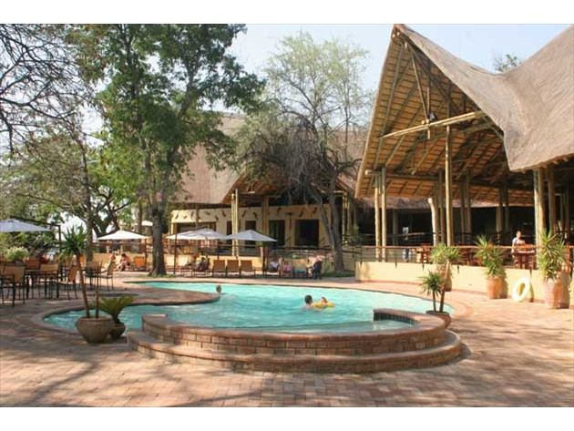Poolside of the Chobe Safari Lodge - Botswana