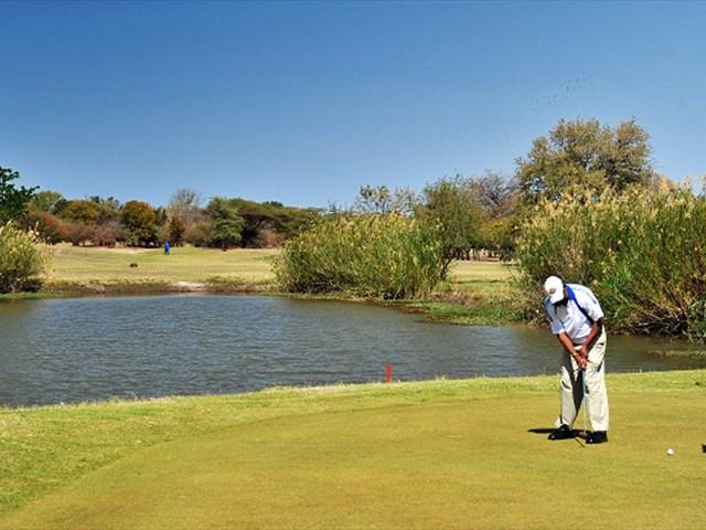 9 hole golf course at Cresta Mowana Lodge, Chobe Riverfront, Botswana