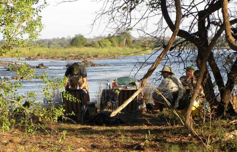Bush lunch in the Zambezi National Park