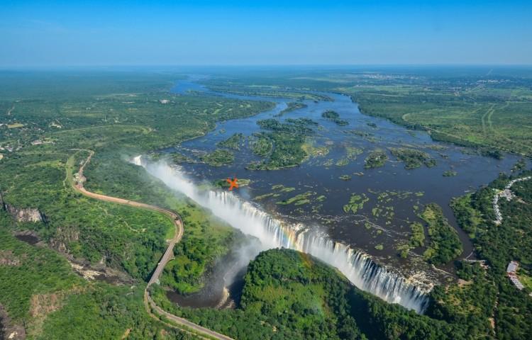 Location of Livingstone Island & the Devil's Pool - Victoria Falls