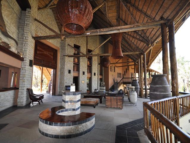 Reception area  at the safari lodge