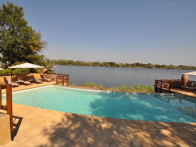 The pool right by the Zambezi River