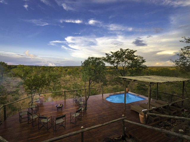 Breathtaking views from the main deck at Elephant Camp West