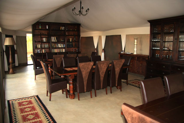 Dining room and library