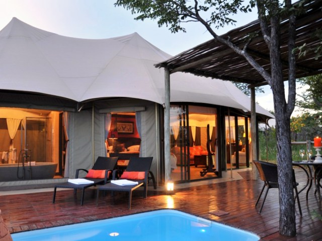 5 star Elephant Camp, plus return flights in this Victoria Falls package - Zimbabwe