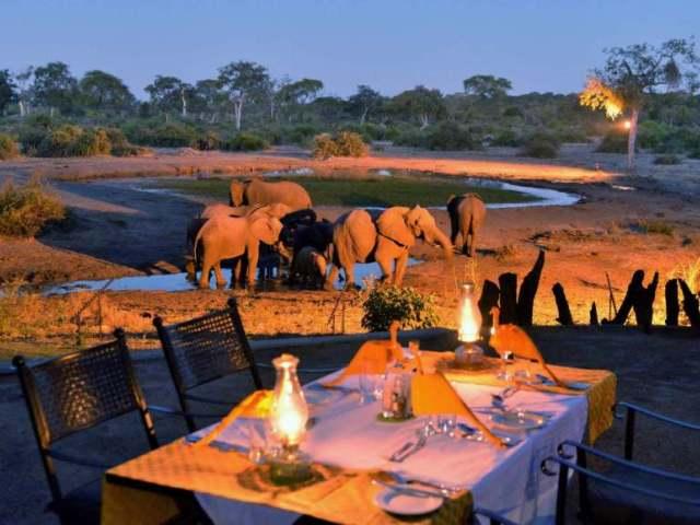 Elephant Valley Lodge near Chobe National Park, Botswana.