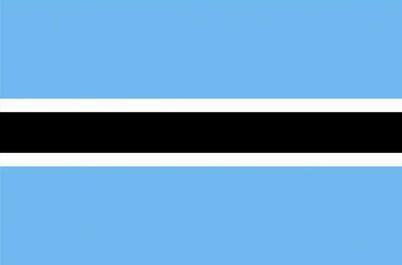 Flag of the Rebublic of Botswana