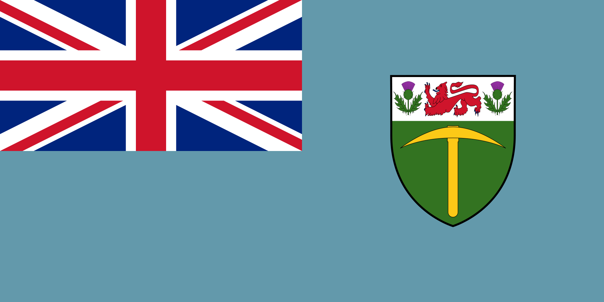Flag of Southern Rhodesia 1946 to 1968
