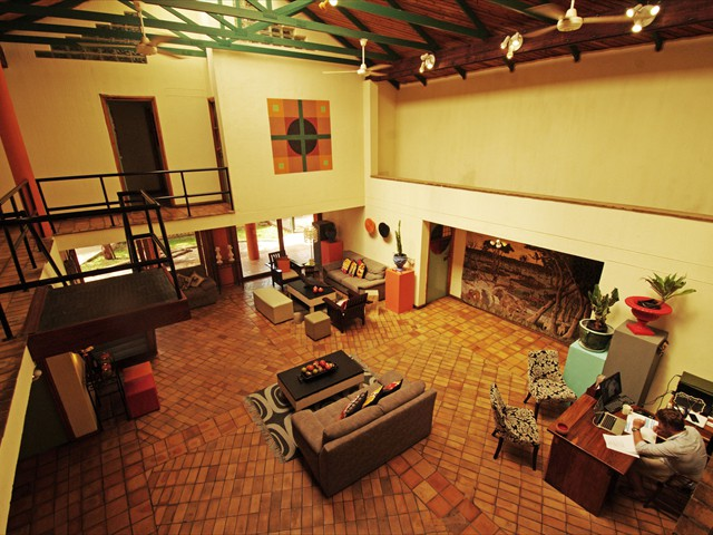 Spacious interior of the common area in the main lodge