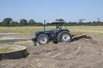 Tractor bought with funds from Zimbabwe Wildlife in Perth