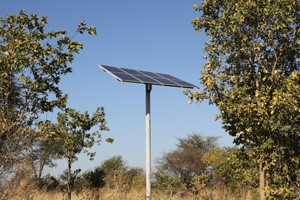 New solar array at Sinanga pan