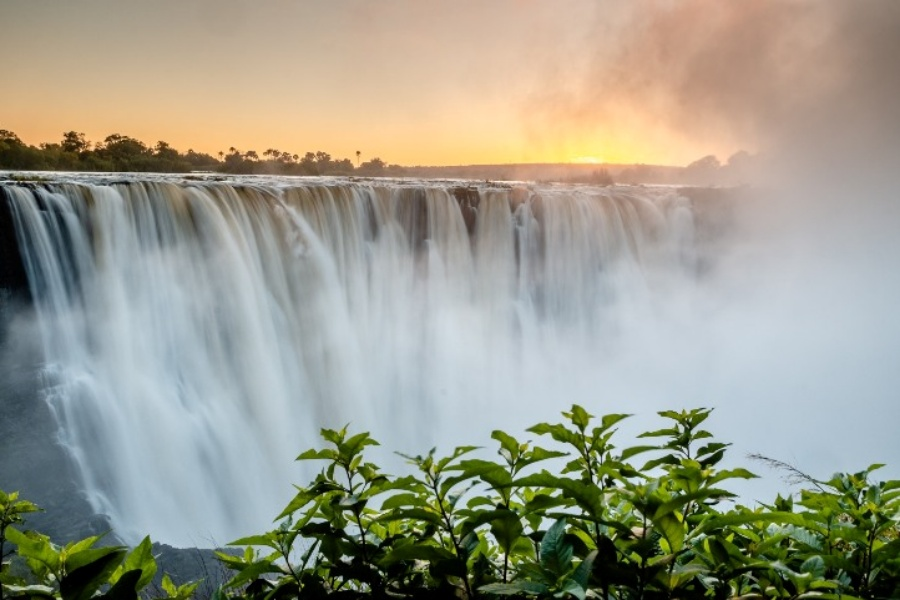 Victoria Falls at sunrise - taken by Victoria Falls Guide in Zimbabwe