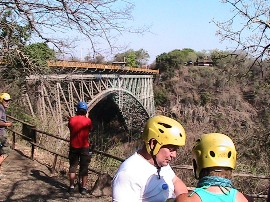 Ready for the Boiling Pot Hike - Victoria Falls