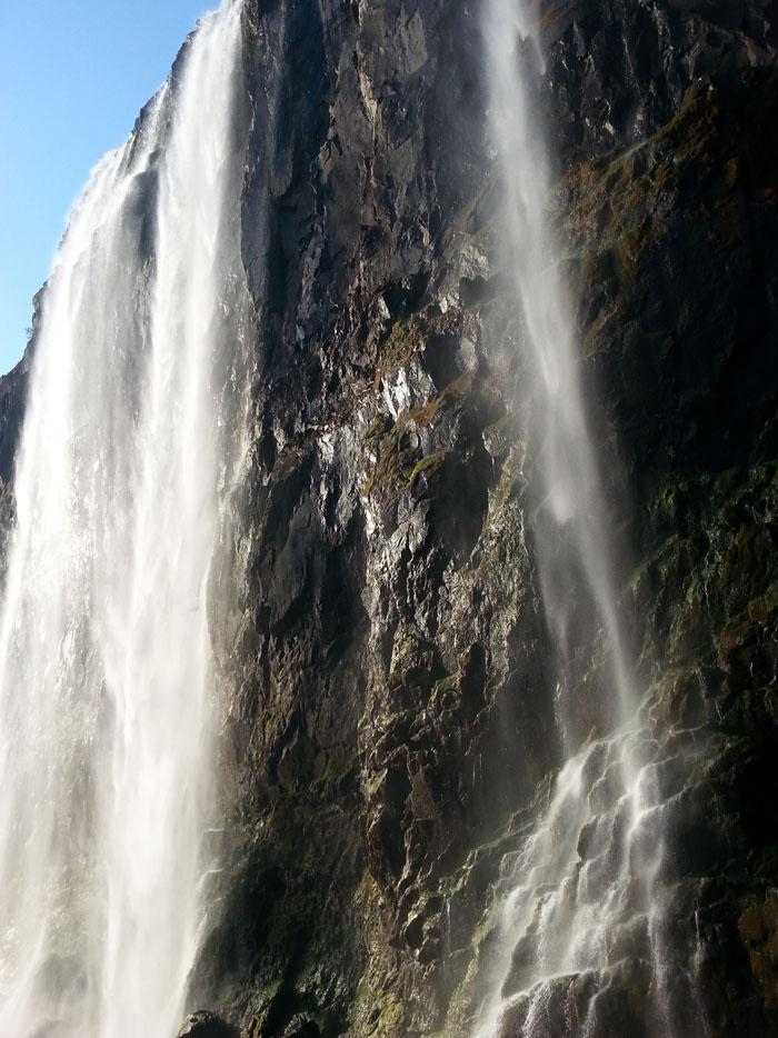 View from the gorge below the Victoria Falls, Zambezi River, Zimbabwe Zambia