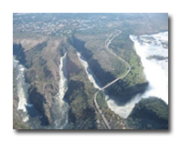 Ariel View of Victoria Falls Gorges