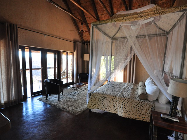 Inside a luxury chalet at Gorges Lodge - Victoria Falls, Zimbabwe
