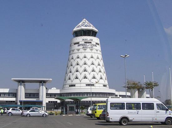 Harare International Airport in Zimbabwe
