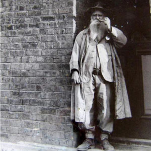 Herbert Robins with his pipe. Founder of possibly the first wildlife snactuary in southern Africa in Hwange National Park