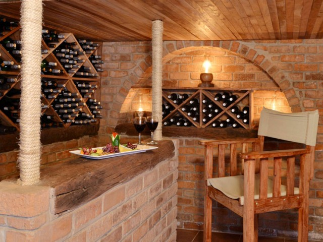 ...complete with wine cellar