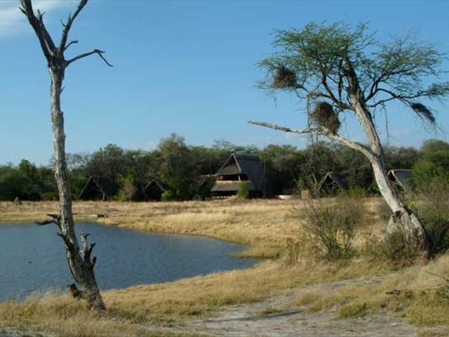 The Hide Camp from the nearby waterhole - Hwange National Park, Zimbabwe