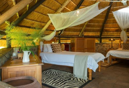 Standard chalet at Hornbill Lodge by Lake Kariba on the Zimbabwe side
