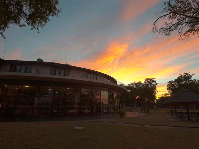 Breathtaking sunset over Hwange Safari Lodge