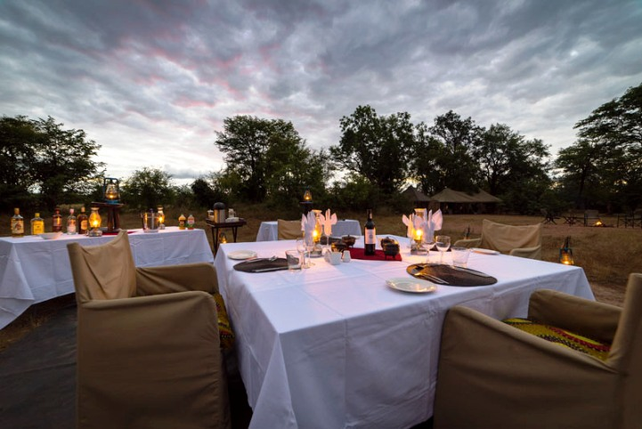 Or dine under the stars