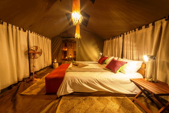 Beautiful tented rooms