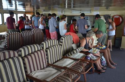 Buffet meals on the Kariba Ferry