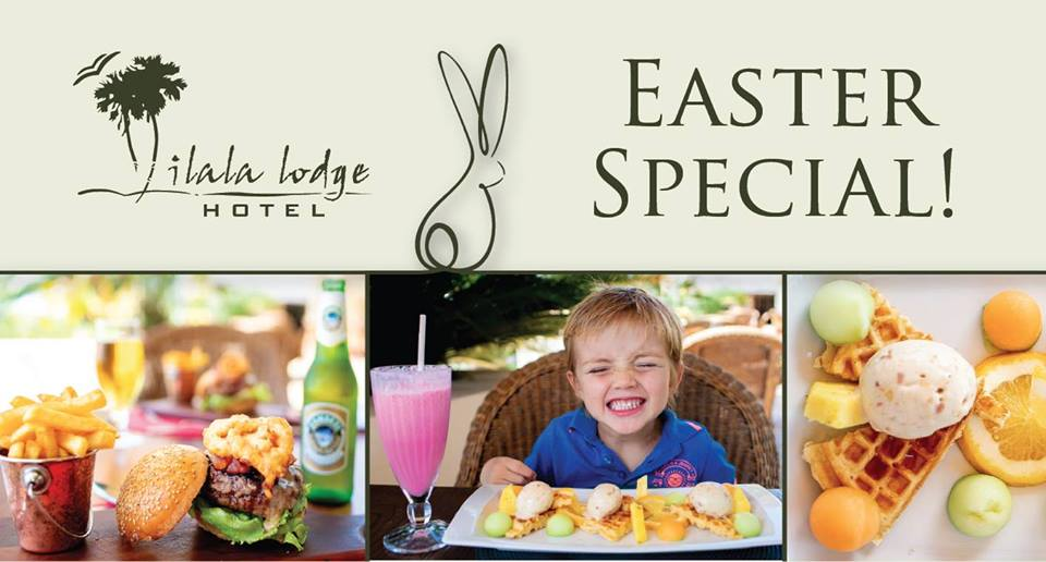 The annual Easter Brunch at Ilala Lodge's The Palm Restaurant in Victoria Falls, Zimbabwe