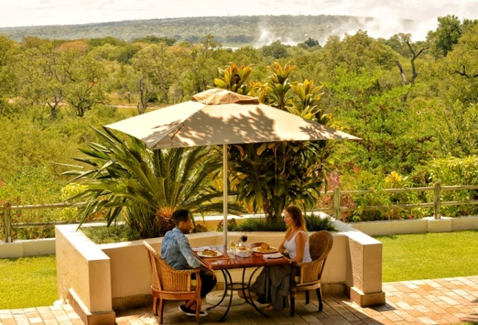 Ilala Lodge very close to the Victoria Falls, Zimbabwe