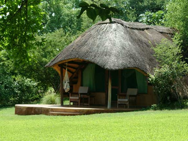 Beautifully set lodge surrounded by lucious gardens