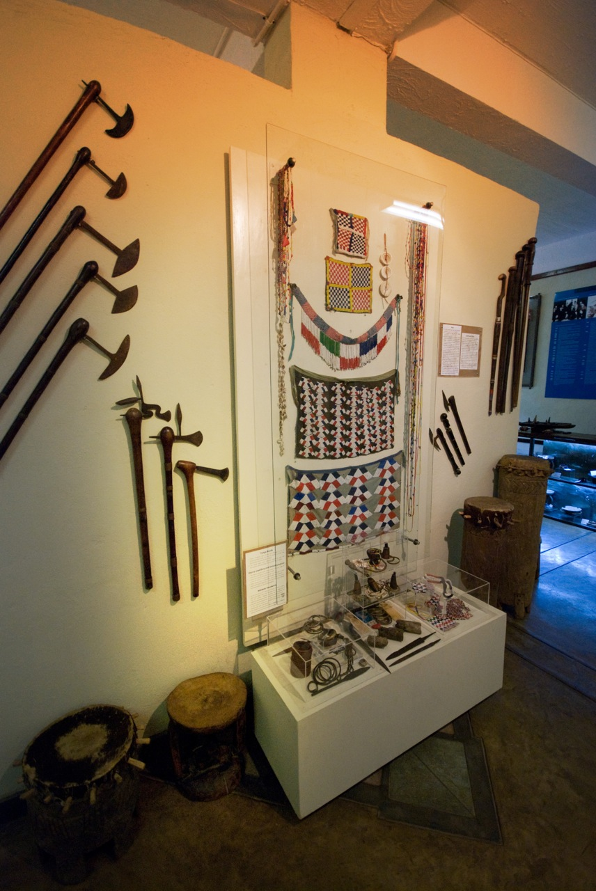 ancient artefacts on display at the Jafuta Heritage Centre in Victoria Falls