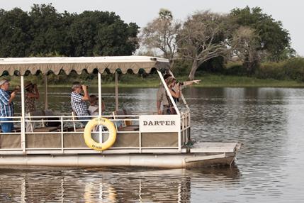 Photographic river safari on the Zambezi River, Victoria Falls, Zimbabwe