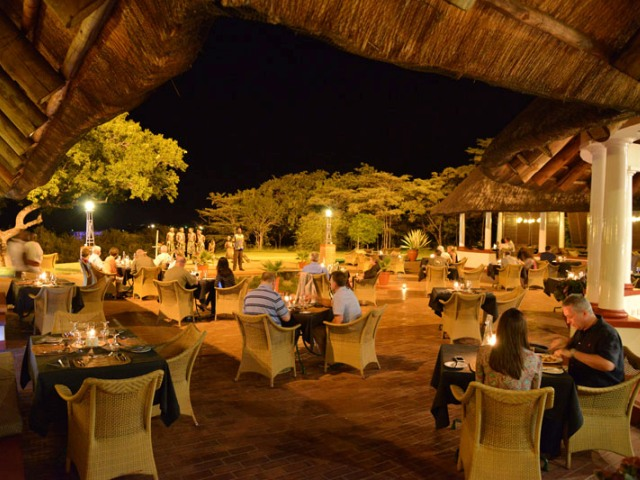 Jungle Junction at the Victoria Falls Hotel. A lively dining option in Victoria Falls, Zimbabwe